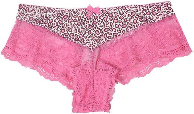 H-M-STUDIO Ropa Interior para Mujeres Encaje Sexy De Leopardo ...