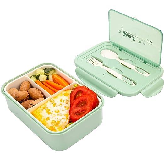 Sunshine smile Caja de Bento con 3 Compartimentos,microondas y ...