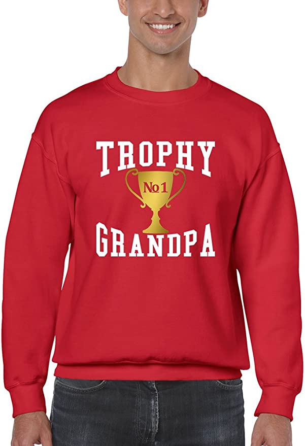 Allntrends Mens Long Sleeve Trophy Grandpa Cool Xmas Love Family Gift Top