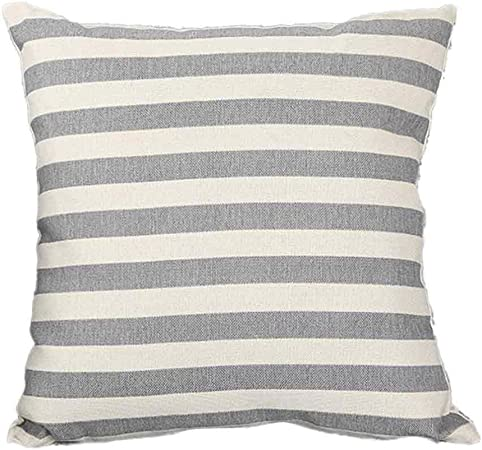 Square Cotton Linen Throw Pillow Case Waist Cushion Cover Bed Sofa Decor M