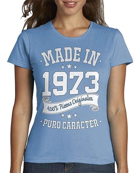 latostadora - Camiseta Made In 1973 para Mujer