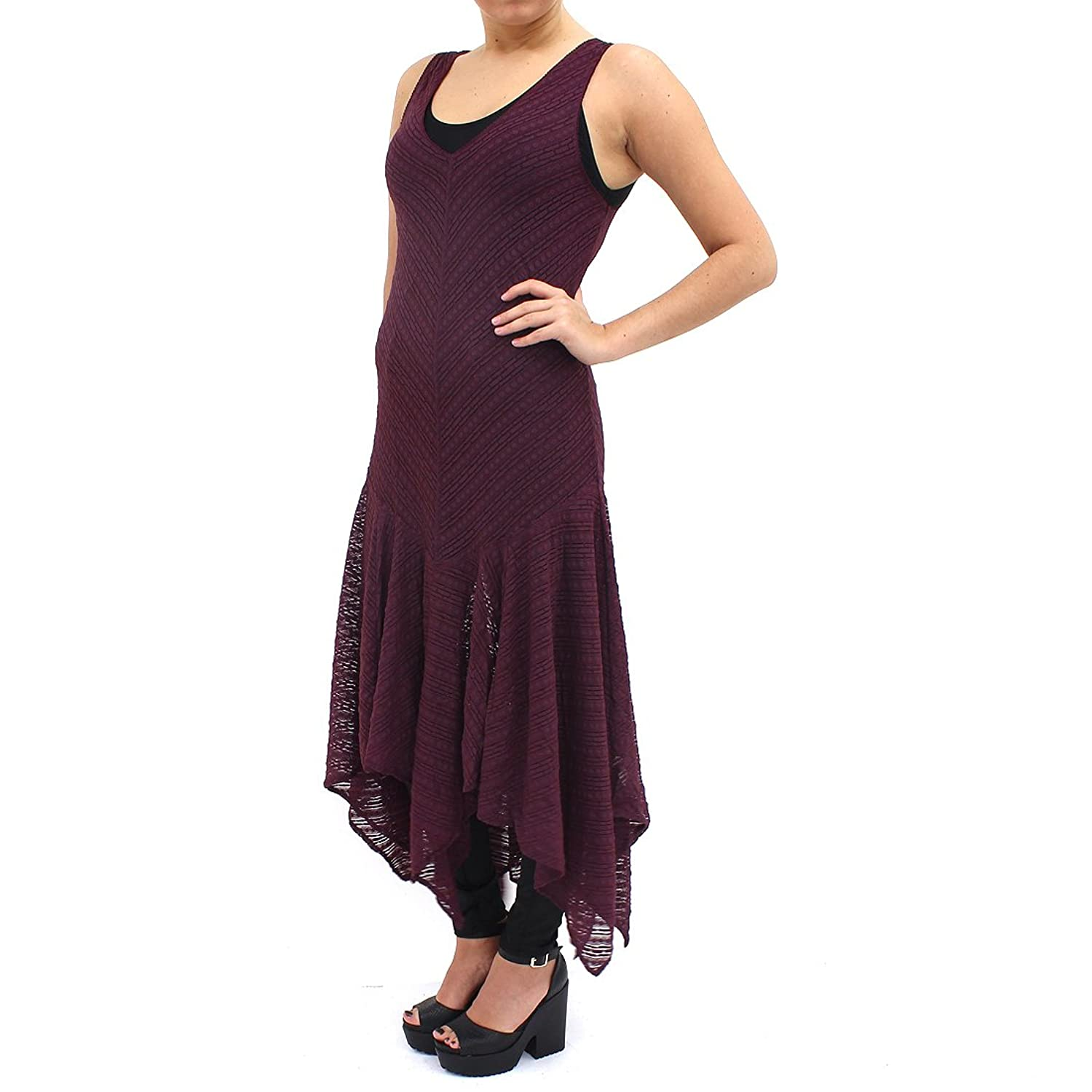 Free People Burgundy Love Lace Dress 085924089