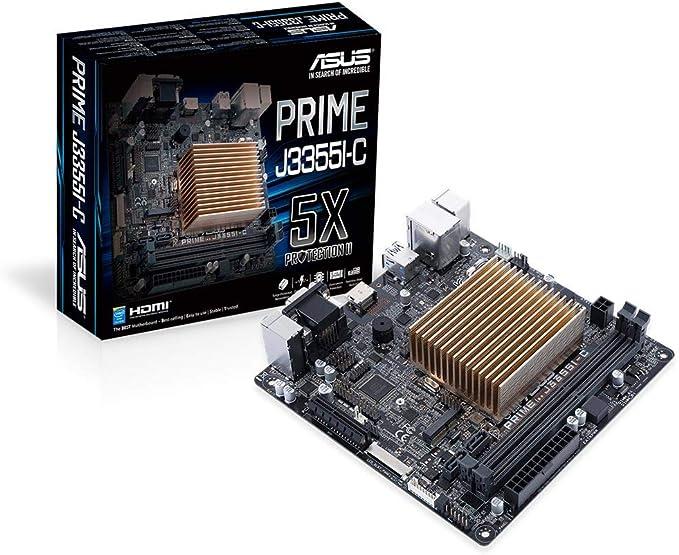 ASUS Prime J3355I-C Mini ITX - Placa Base (DDR3-SDRAM,DDR3L-SDRAM, 1333,1600,1866 MHz, Dual, 16 GB, Intel, Intel® Celeron®): Asustek: Amazon.es: Informática