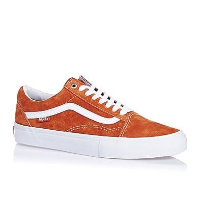 c95c2d6cb28f89 Vans Men s Old Skool Pro Technical Skateboarding Shoes Orange Dark Orange