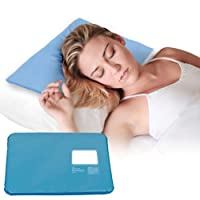 SODIAL Hot Cool Cold Chillow Ice Pillow Aid Sleeping Cooling Insert Pad Mat Therapy Relax Muscle