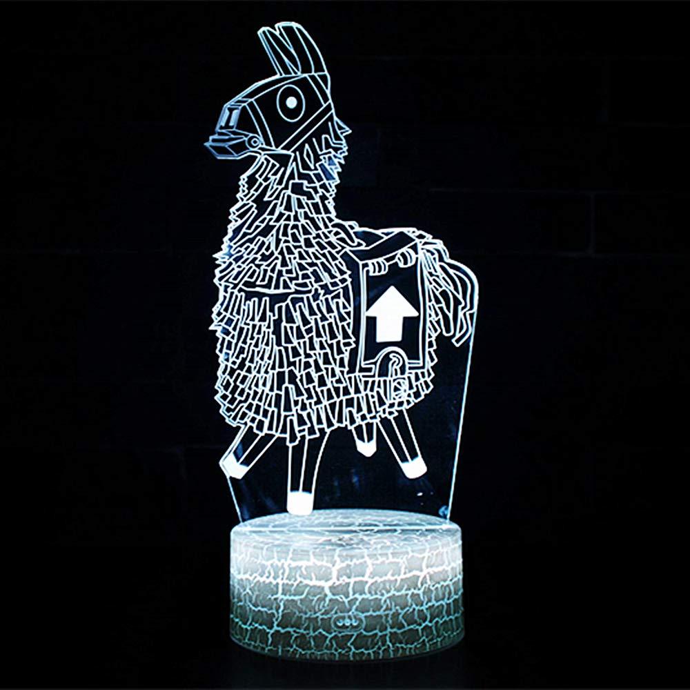 Viajero oscuro 3D L/ámpara de Escritorio NHSUNRAY 7 colores LED Touch l/ámpara de mesa con control remoto para ni/ños cumplea/ños regalo de San Valent/ín de Navidad