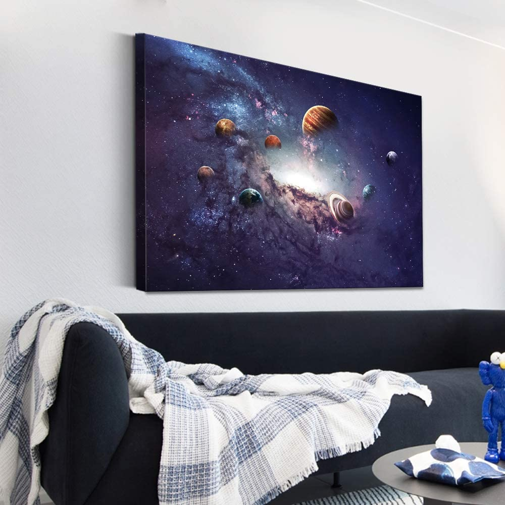 SIGNFORD Canvas Wall Art Galaxy System Modern Home Decor Canvas Painting Wall Decoration for Bedroom Living Room 16x24 inches
