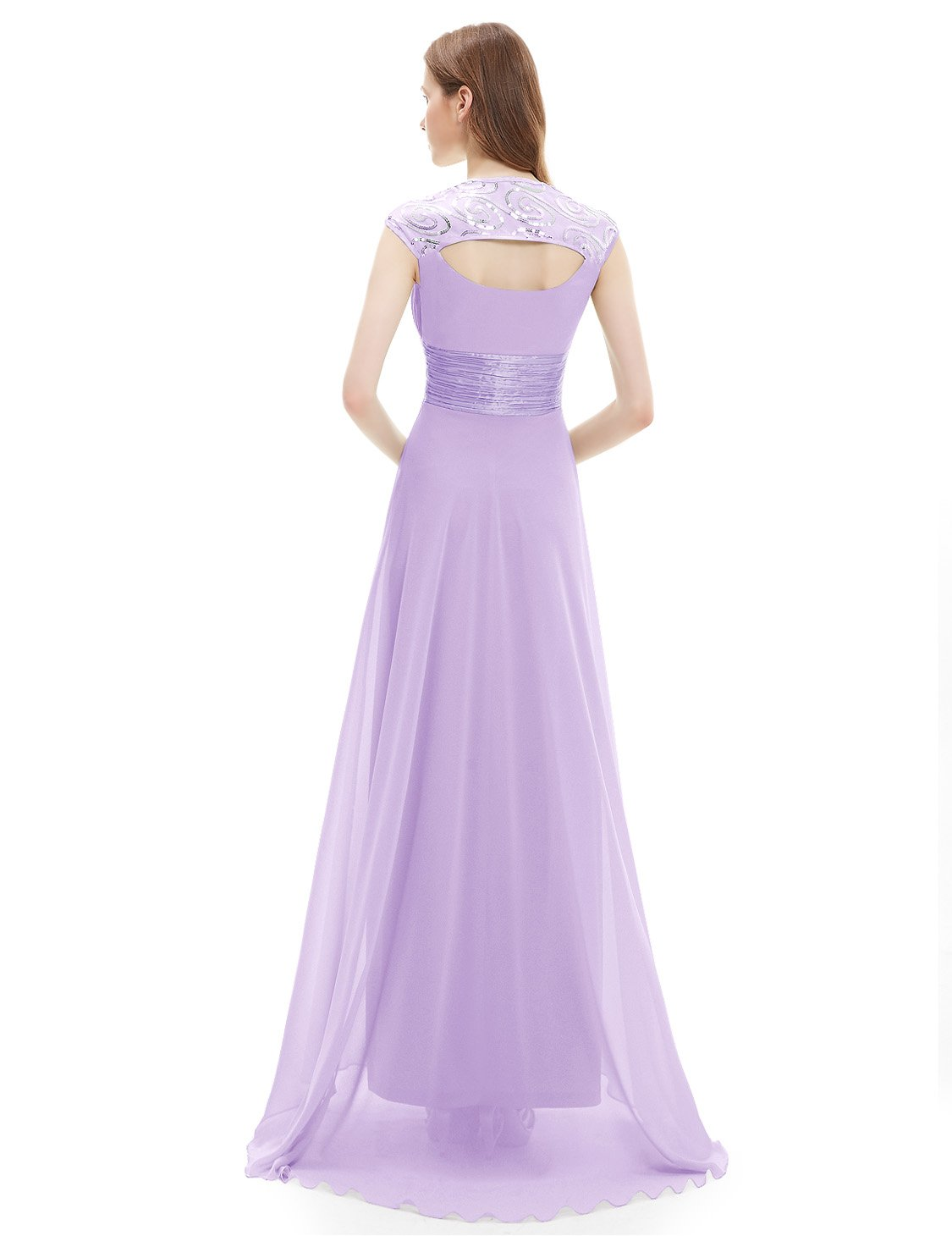 Ever-Pretty Womens Empire Waist Formal Long Military Ball Gown 12 US Light Purple by Ever-Pretty (Image #2)