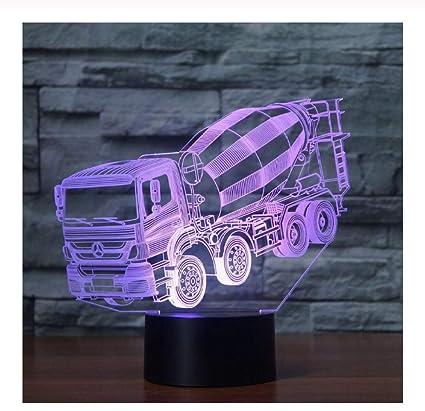 7 colores cambiantes luz de noche 3D LED licuadora mesa de coche ...