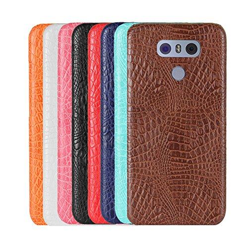 Funda LG G6, SunFay Funda Posterior Protector de PC Carcasa Back Cover de Parachoques Piel PU Protectora de Teléfono Para LG G6 - Blanco Rosa