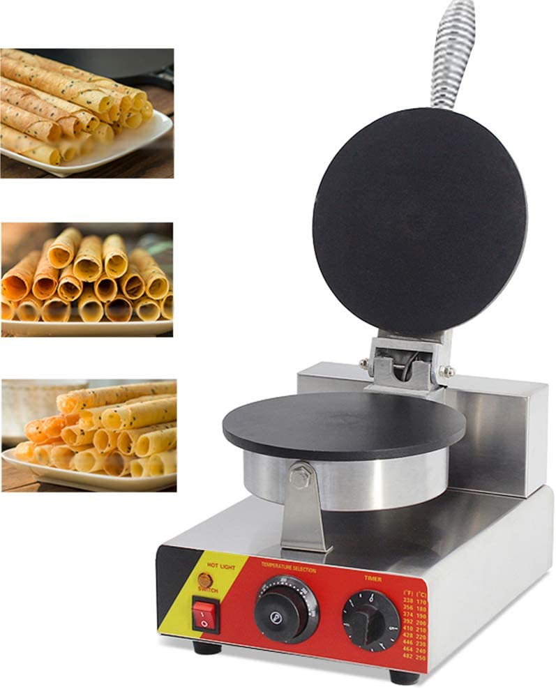 CGOLDENWALL NP-598 Commercial Egg Roll Waffle Maker Machine Waffle Maker Electric Waffle Machine No-Stick Belgian Waffle Baker Rotate Waffle Making Machine 110V/220V CE Certification