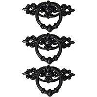 Amuzocity 3 stuks antiek zwarte kastdeur schuifladen kledingkast uittrekken