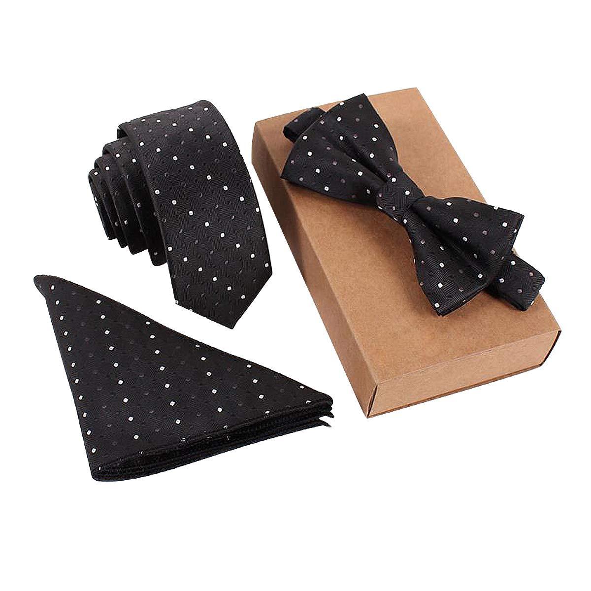 Krawatten Fliegen Einstecktücher Sets Für geschäftliche Anlass, Hochzeit, Party, Event Event (02)