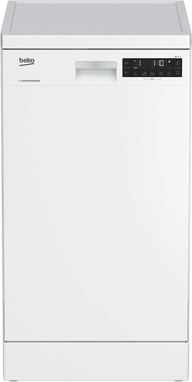 BEKO DFS28021W lavavajilla Independiente 10 cubiertos A++ - Lavavajillas (Independiente, Blanco, Estrecho (45 cm), Estático, 10 cubiertos, 46 dB)