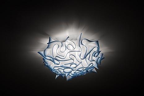 Plafoniere Blu : Slamp acrilico lampada da soffitto veli in bianco blu