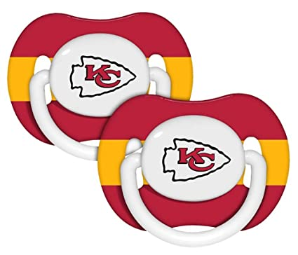 Amazon.com: NFL Kansas City Chiefs 2 Pack Chupete ...