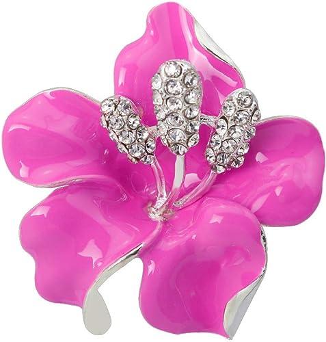 Red Large Wreath Brooch Diamante Vintage Rhinestone Bridal Pin Scarf Corsage