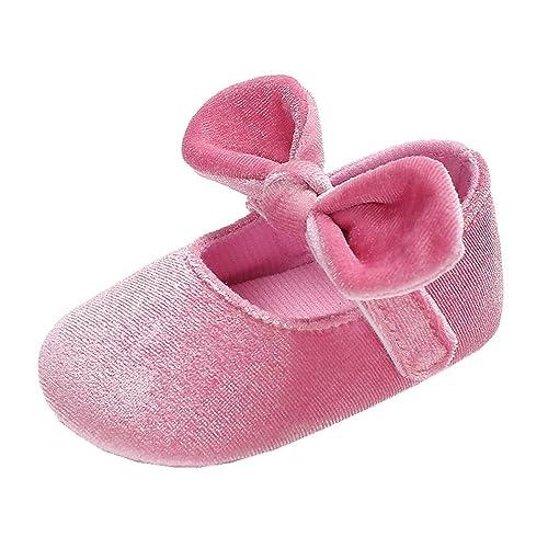 Allskid Neonato Scarpe da Bambino Ragazze Suola Morbida Bowknot Velcro Rosa  Principessa Scarpine Prima Infanzia  Amazon.it  Scarpe e borse b79b2c3407c