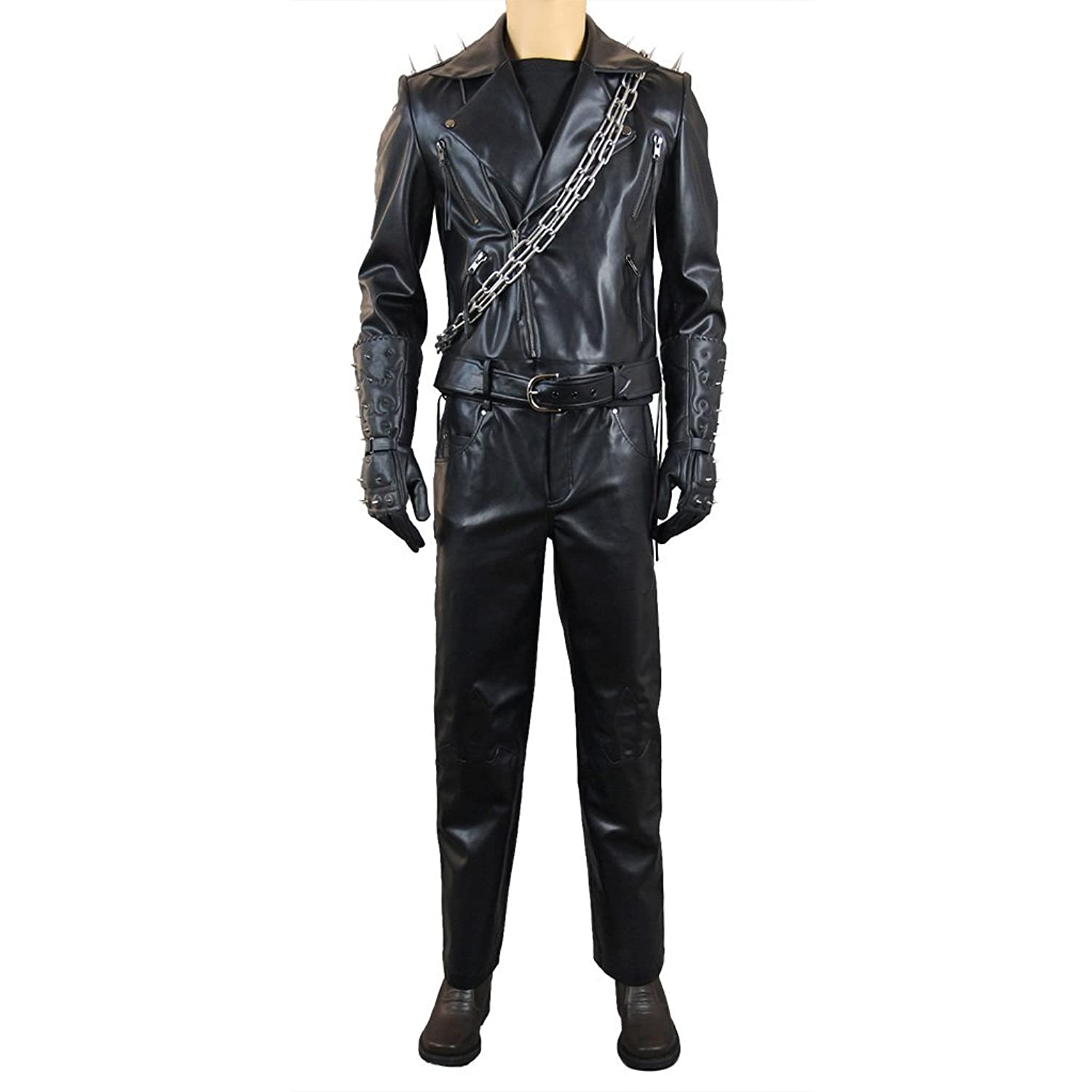 Men's Ghost Rider Cosplay Costume Johnny Blaze Leather Outfit