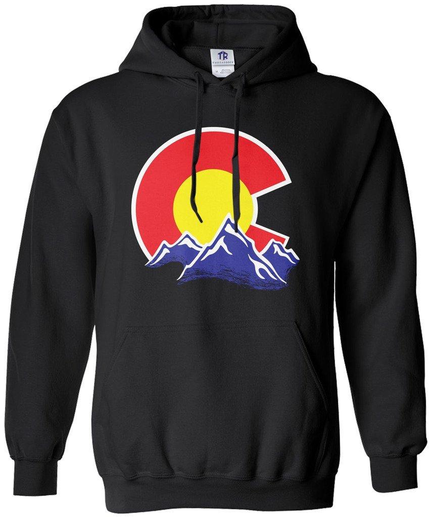 Threadrock Women's Colorado Mountain Hoodie Sweatshirt