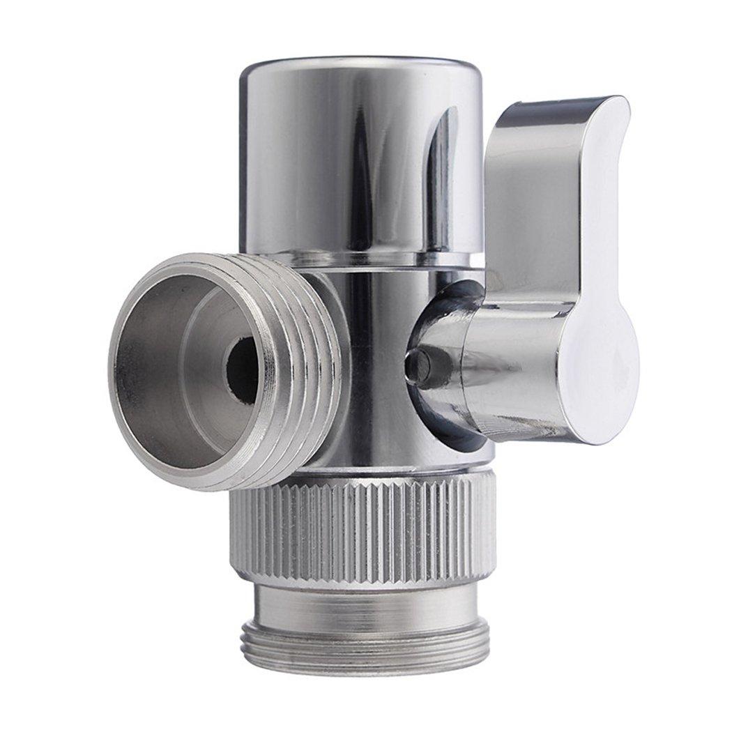 PHOEWON 3-v/ías V/álvula Desviadora 1//2 inch IPS Lat/ón Desviador de Ducha Repuesto Grifo de Lavabo Cocina Ba/ño M22 X M24 Cromo