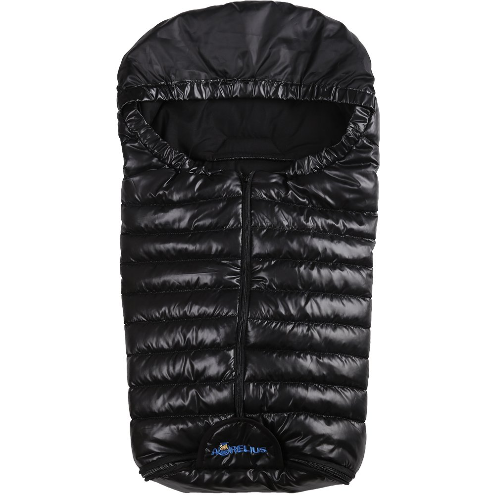Aurelius Stroller Bunting Bags for Car Seat | Baby Stroller Footmuff Sack Sleeping Bag,0-6 Month (Dark Black)