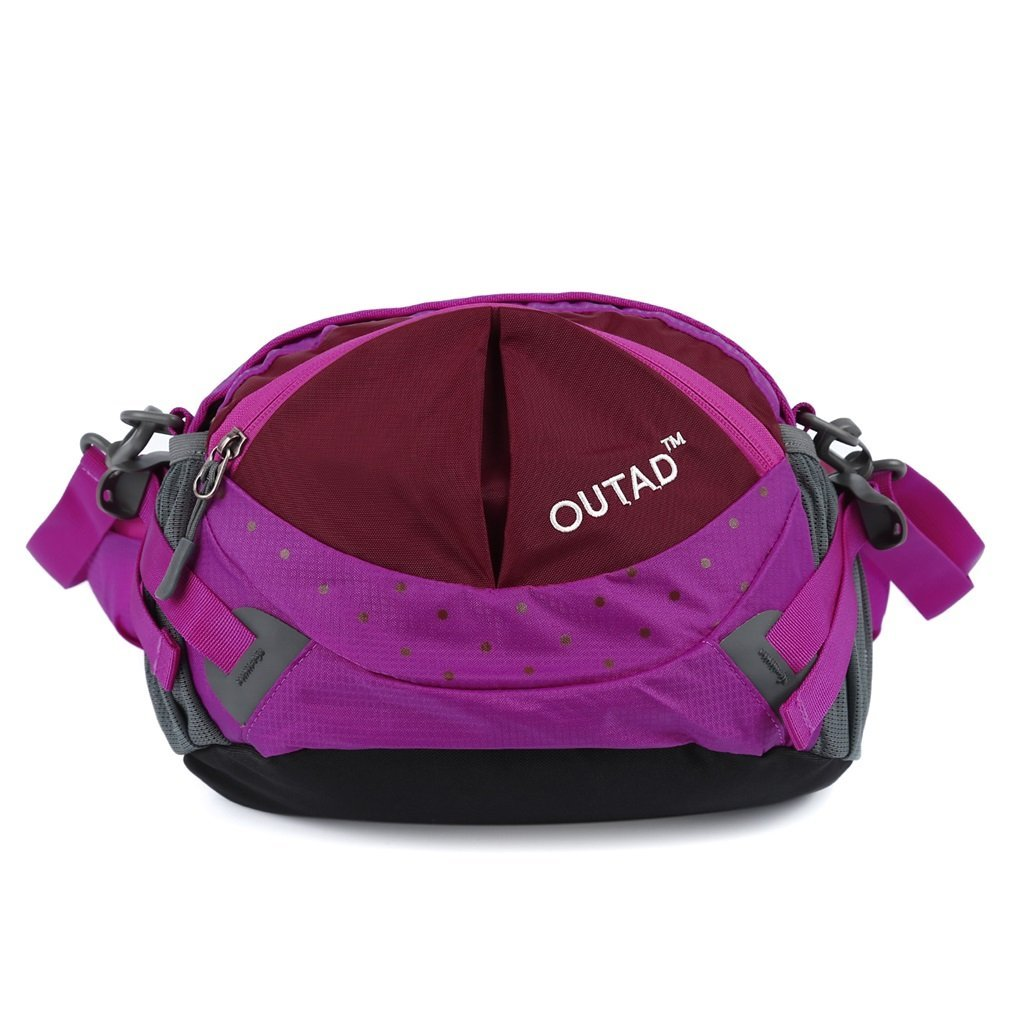 9c30a2e03970 OUTAD Waterproof Nylon Bumbag Fanny Pack Waist Bum Bags for Jogging Camping  Running Cycling Riding Dog Walking Hiking Travel Climbing Outdoor Sporting  ...