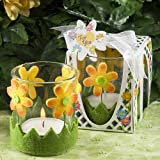 Floral Design Candle Holder Favors Set of 36
