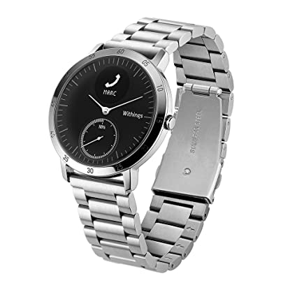 Balerion Smart Watch Band pour Withings Acier HR/, cuir véritable Sangle de remplacement Bracelet de montre bracelet en acier pour Withings HR: Amazon.fr: ...