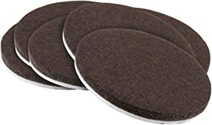 SoftTouch 4723295N Self-Stick Felt Pads Round Protect your Hard Floors from Furniture Scratches 2 Inch, Brown (6 Pieces),