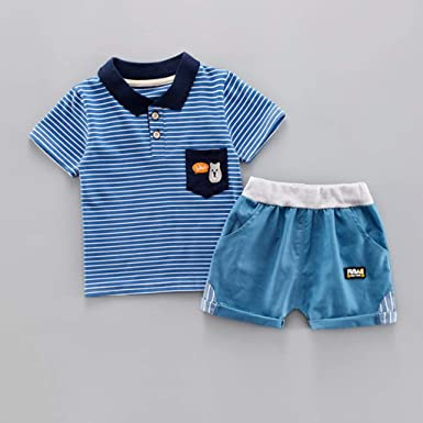 Amazon.com: Iuhan Baby Boy Gentleman Outfit Set Kid Baby Boy Stripe ...