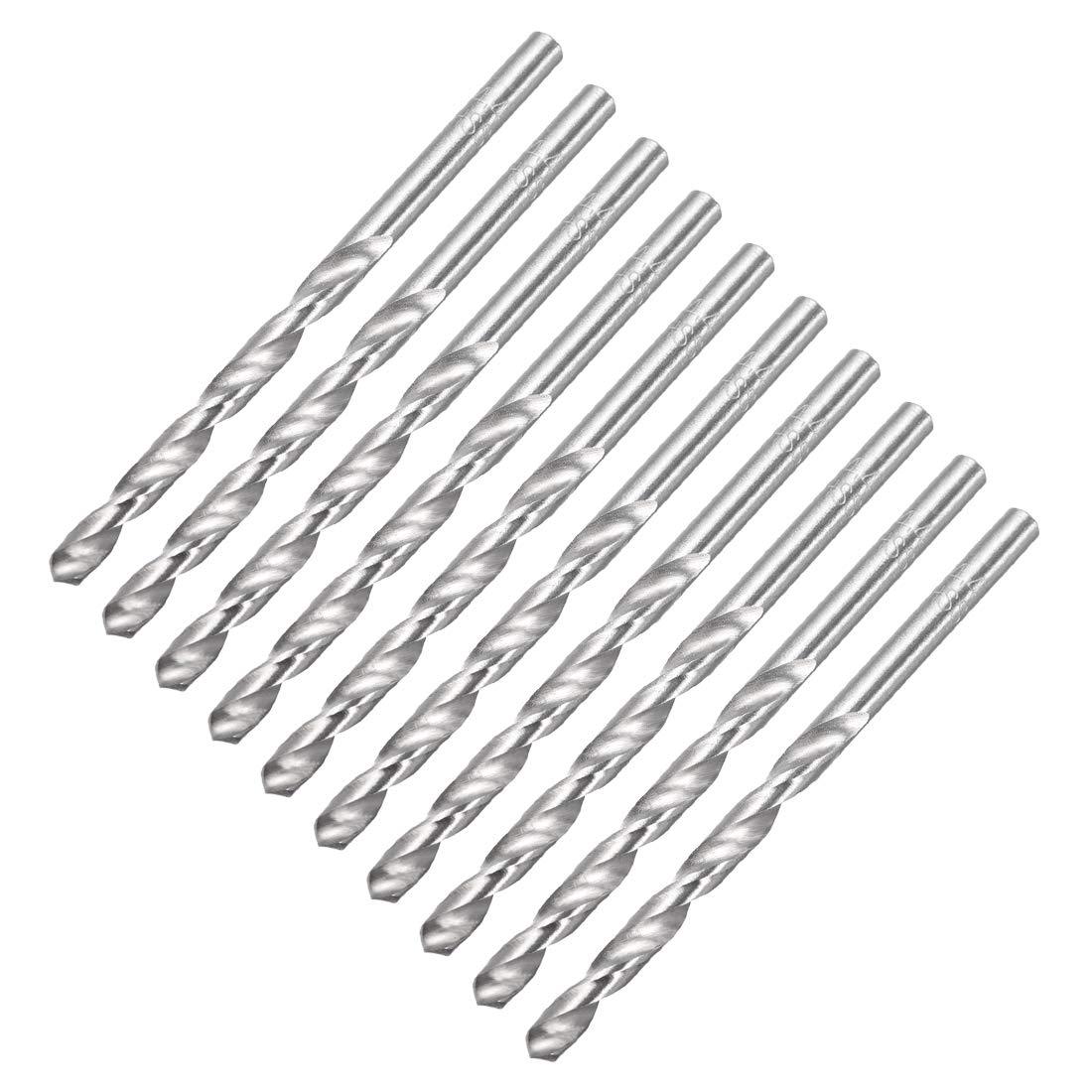uxcell 3.9mm Twist Drill High Speed Steel Bit HSS-4241 for Steel,Aluminum Alloy 10pcs