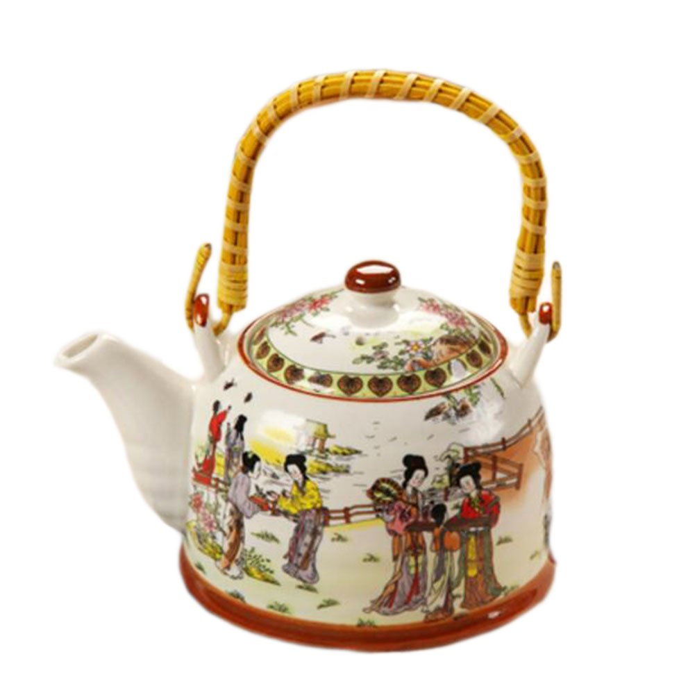 Thé Japonais Porcelaine Théière Home Office Exquisite Teapot Restaurant Décoration Spéciale-A02 Black Temptation