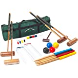 Longworth Croquet Set - 4 Player UPGRADED Full Sized Adult Set in a Canvas Storage Bag from Garden Games