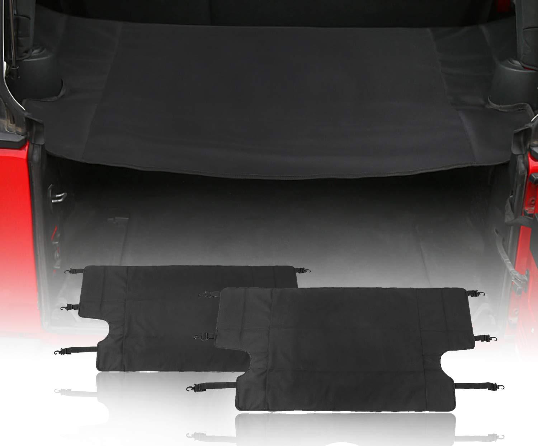 Interior Storage Rack Cover Shield for 2007-2018 Jeep Wrangler JK 4 Door 8523744041 u-Box Jeep Wrangler Rear Trunk Shade Cargo