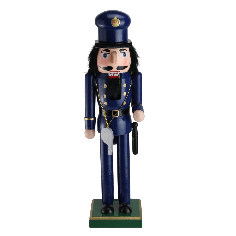 Northlight 14'' Decorative Wooden Christmas Nutcracker Police Officer by Northlight