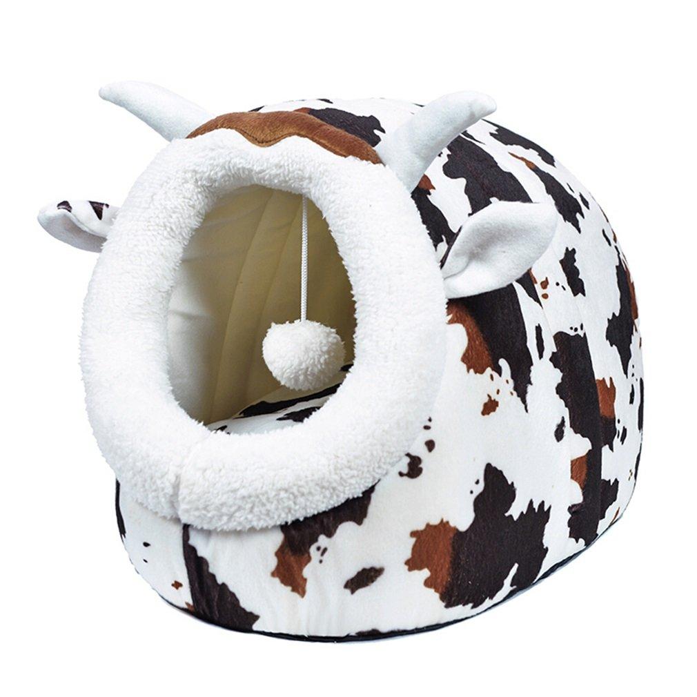 Mascotas Nidos Camada para Perros Camada para Gatos Uso Doble Otoño e Invierno Nido cálido Gatos dormidos Alfombras para Gatos Alfombras para modelar Animales Modelos (Tamaño : L)