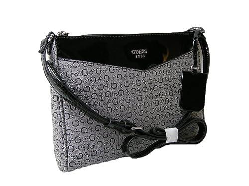 7d9ddadc31a0 New Guess G Logo Purse Cross Body Shoulder Hand Bag Black Gray Silver  Birch  Amazon.ca  Shoes   Handbags