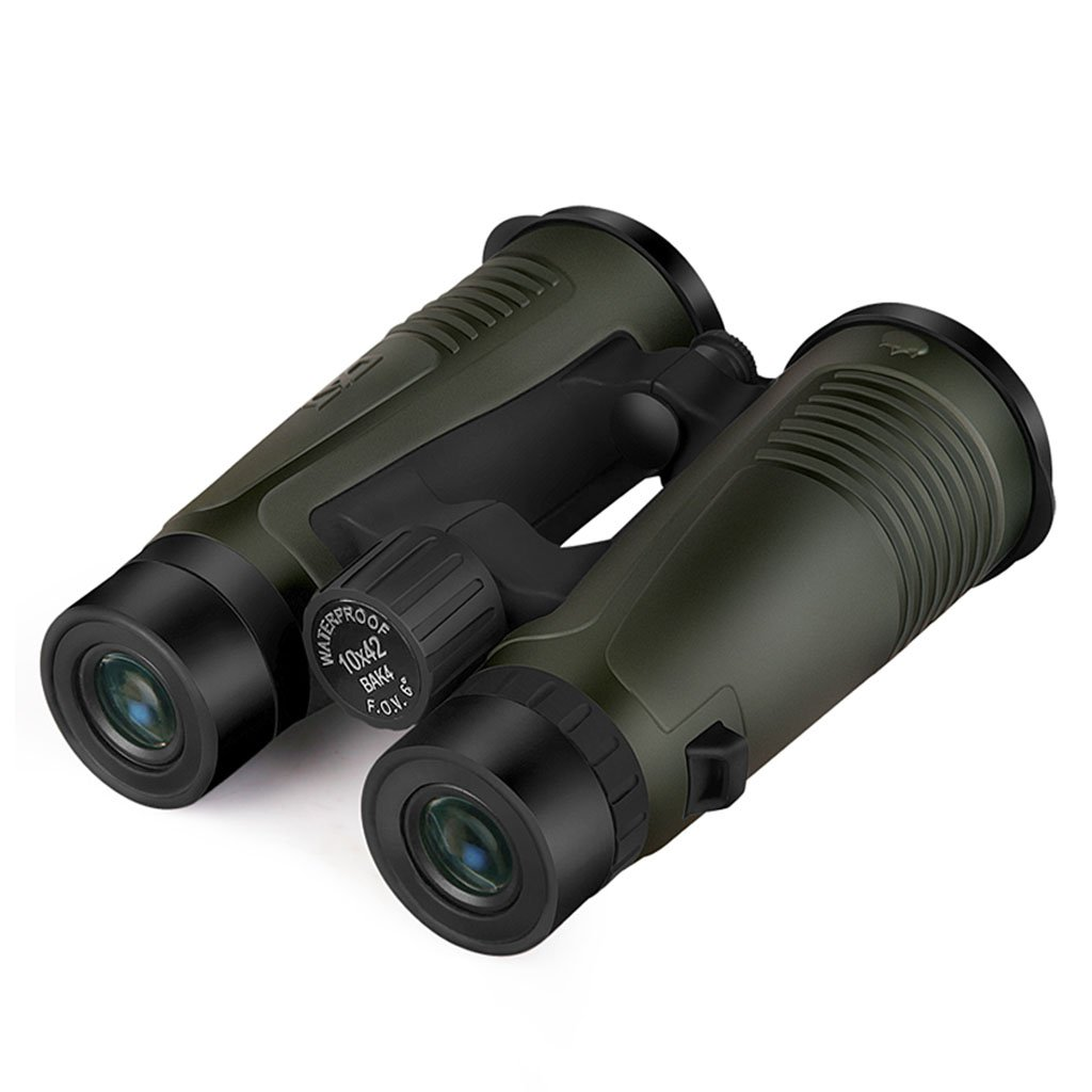 10x42双眼鏡窒素充填防水低照度ナイトビジョン高倍率双眼鏡 (Color : Green) B07FSTVXLB  Green