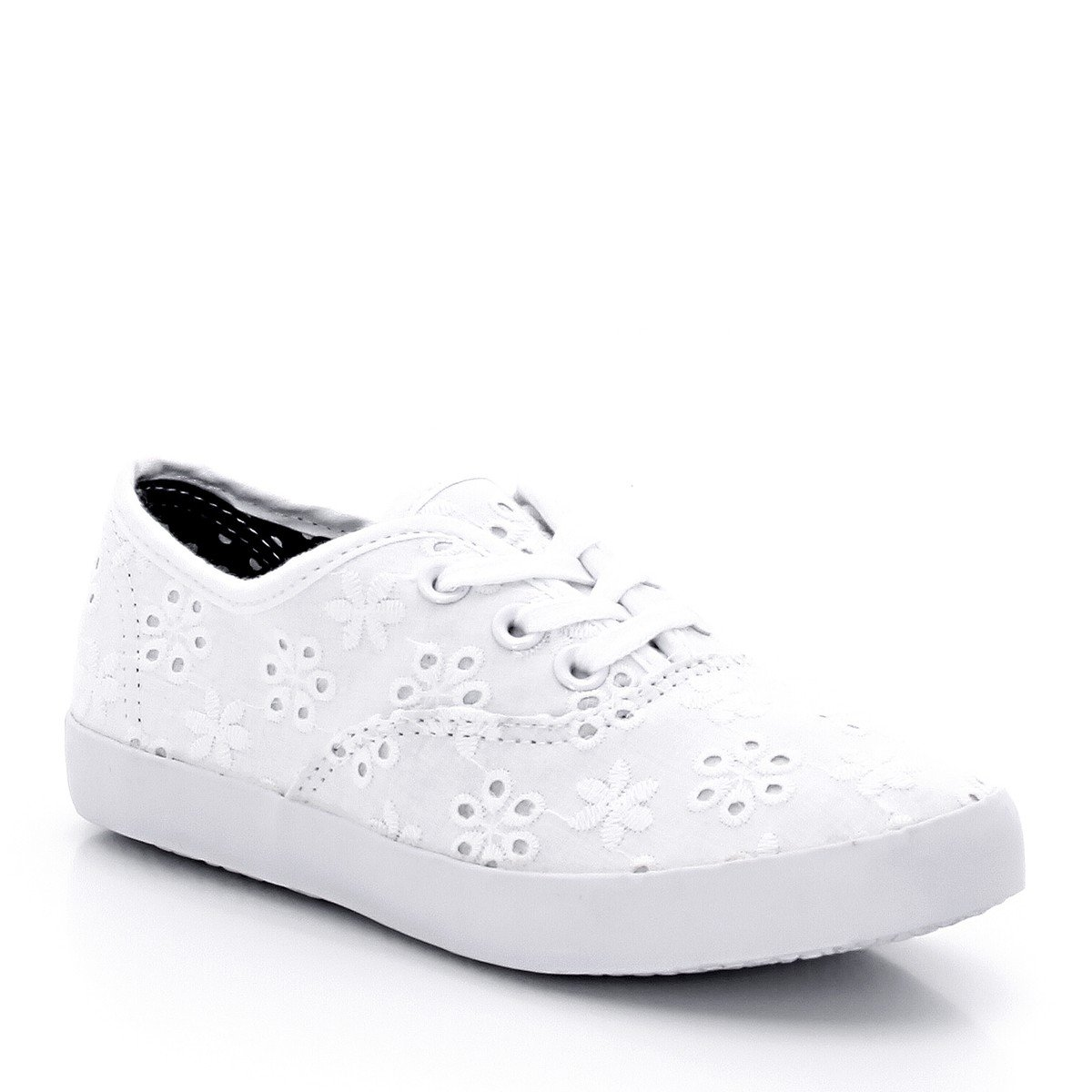 La Redoute Collections Big Girls Broderie Anglaise Trainers White Size 37