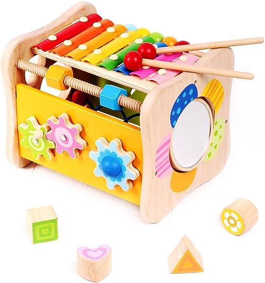 Cajas de música Mesa de estudio de educación temprana para niños Mesa de juegos de rompecabezas