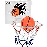 Cyfie Mini Basketball Toy Office Desktop Bathroom Toilet Slam Dunk Game Gadget Home Gadget for Basketball Lovers Boys Girls