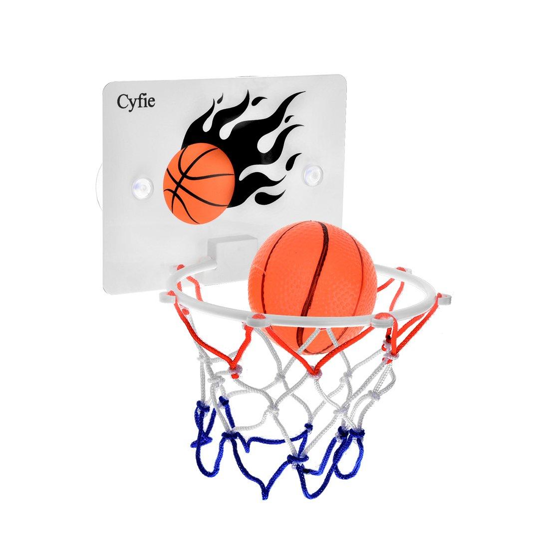 Cyfie Basketball Hoop Toy Office Desktop Game Bathroom Toilet Slam