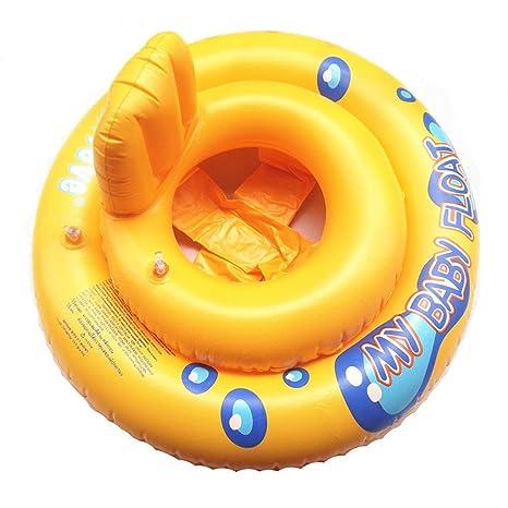WULEI My Baby Float Swimming Swim Ring Piscina Infantil Silla Lounge con Respaldo Flotador Hinchable bebé