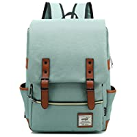 FreeMaster Vintage Unisex Casual School Bag Travel Laptop Backpack Rucksack Daypack Tablet Bags (Green)