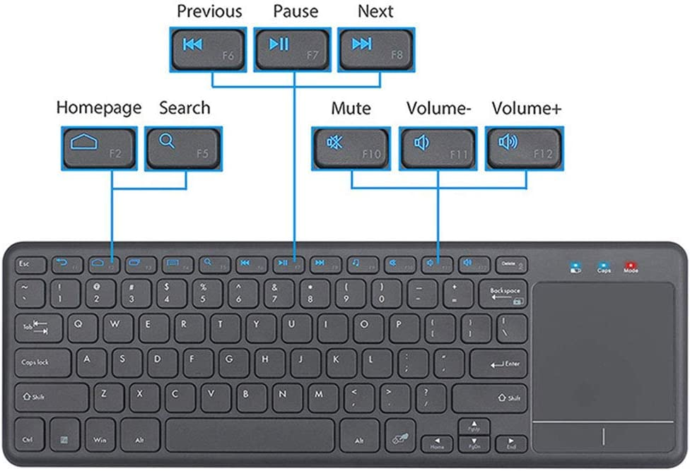 Chengl Universal 2.4G Wireless Keyboard with touchpad Office Home Wireless Keyboard Support Three System Keyboard and Mouse