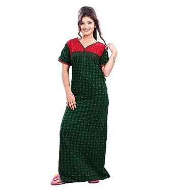 a1a89f49db MAHAARANI Fancy Cotton Nighty Night Wear Sleep Wear for Women  Amazon.in   Clothing   Accessories