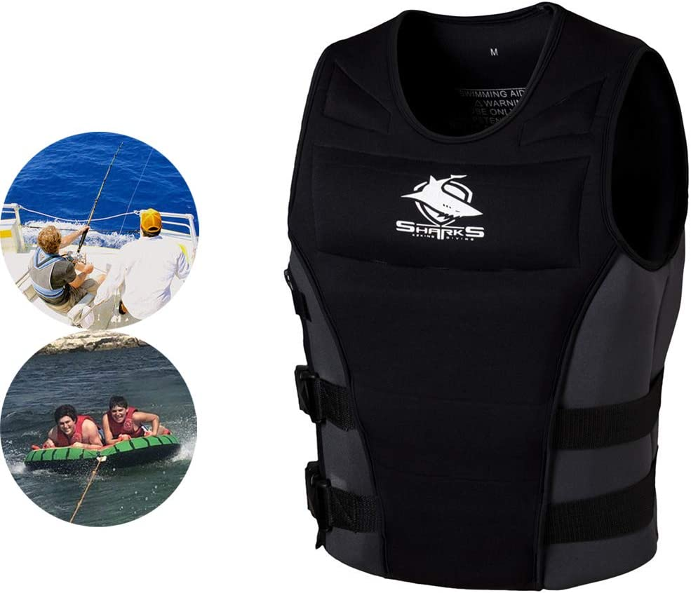 Buceo Kayak AURALLL Chaleco de esn/órquel Chaleco Salvavidas para el Barco Kayak Buceo Deportes acu/áticos para Mujeres Adultas Hombres Barco Bote a Motor Pesca nataci/ón,S