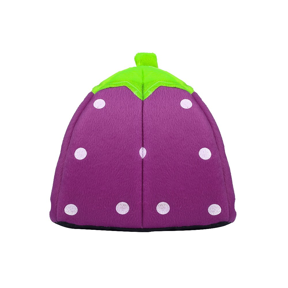 Spring Fever Strawberry Guinea Pigs Fleece House Rabbit Cat Pet Small Animal Bed Purple XL (18.918.90.8 inch) by Spring Fever (Image #5)