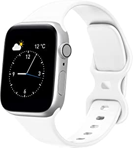 Fnker Compatible with Apple Watch Band 38mm/40mm 42mm/44mm S/M M/L Soft Silicone Sport Band for Women & Men. Strap Compatible with iWatch Series 6/5/4/3/2/1/SE